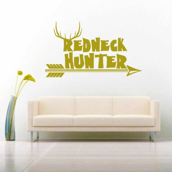Redneck Hunter Bowhunting Arrow Vinyl Wall Decal Sticker