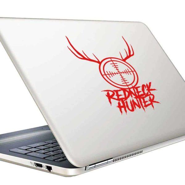 Redneck Hunter Rifle Gun Scope Antlers Vinyl Laptop Macbook Decal Sticker