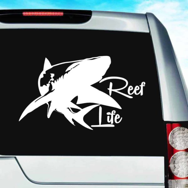 Reef Life Shark Vinyl Car Window Decal Sticker