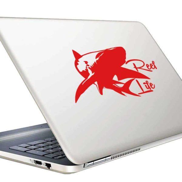 Reef Life Shark Vinyl Laptop Macbook Decal Sticker
