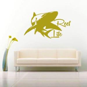 Reef Life Shark Vinyl Wall Decal Sticker