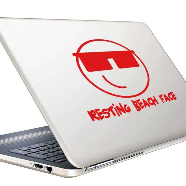 Resting Beach Face Vinyl Laptop Macbook Decal Sticker