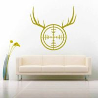 Rifle Gun Scope Antlers_1 Vinyl Wall Decal Sticker