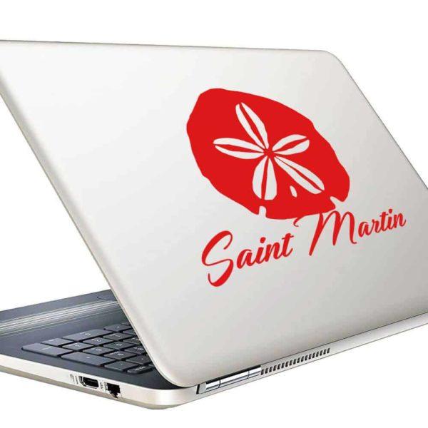 Saint Martin Sand Dollar Vinyl Laptop Macbook Decal Sticker