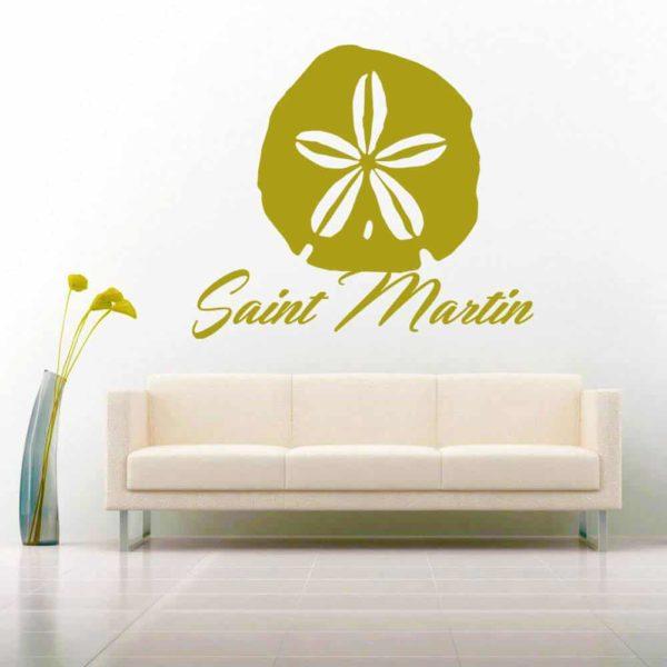 Saint Martin Sand Dollar Vinyl Wall Decal Sticker