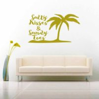 Salty Kisses Sandy Toes Palm Tree Vinyl Wall Decal Sticker