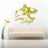 San Diego Fish Skeleton Vinyl Wall Decal Sticker