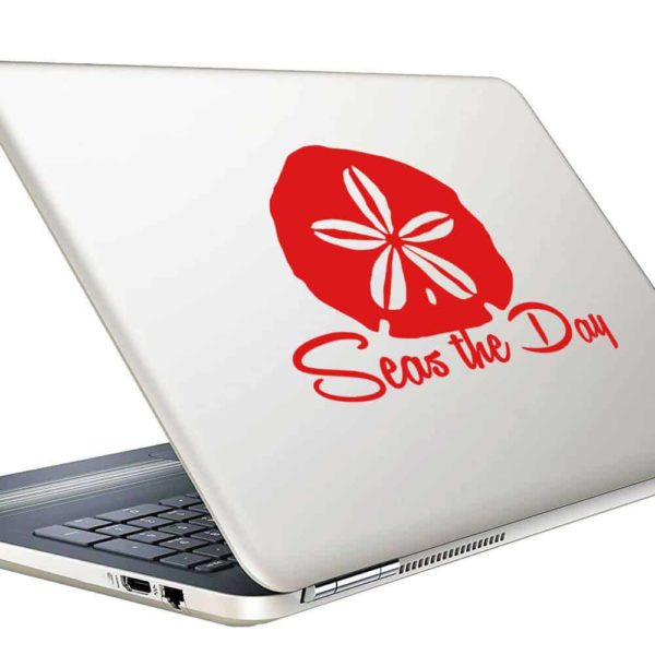 Sand Dollar Seas The Day Vinyl Laptop Macbook Decal Sticker