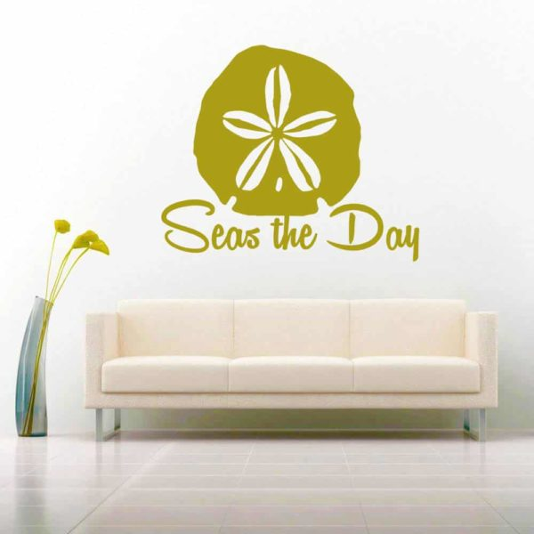 Sand Dollar Seas The Day Vinyl Wall Decal Sticker