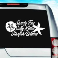 Sandy Toes Salty Kisses Starfish Wishes Vinyl Car Window Decal Sticker