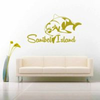 Sanibel Island Dolphin Vinyl Wall Decal Sticker