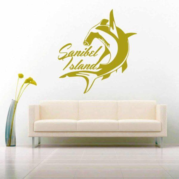 Sanibel Island Florida Hammerhead Shark_1 Vinyl Wall Decal Sticker