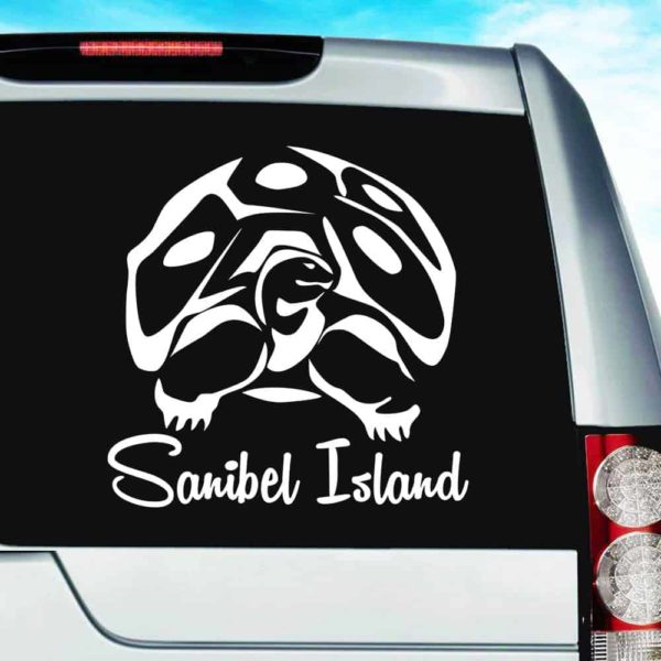 Sanibel Island Gopher Tortoise Vinyl Car Window Decal Sticker