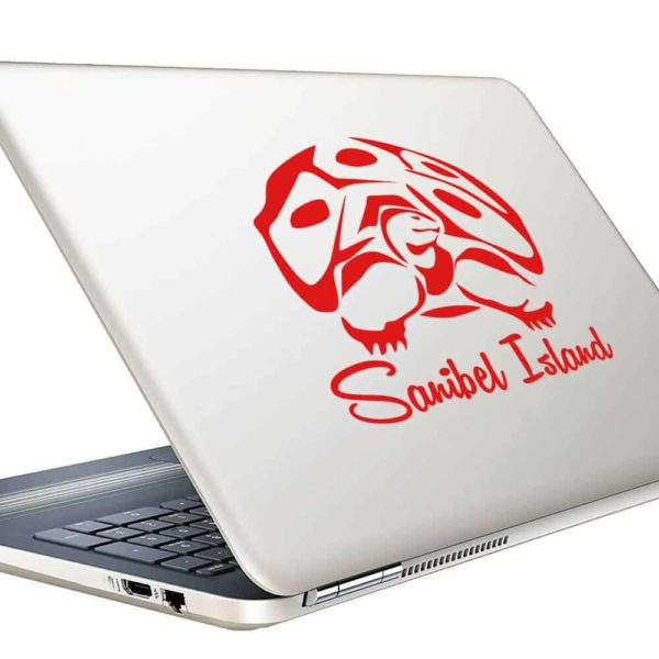 Sanibel Island Gopher Tortoise Vinyl Laptop Macbook Decal Sticker