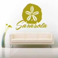 Sarasota Florida Sand Dollar Vinyl Wall Decal Sticker