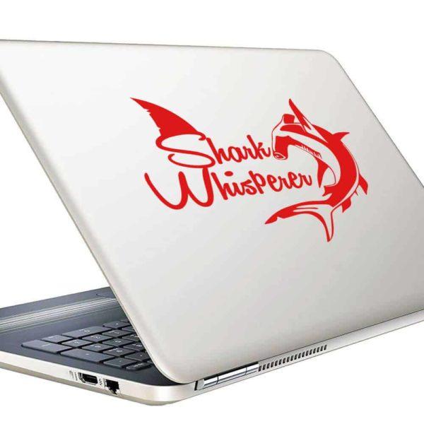 Shark Whisperer Hammerhead Vinyl Laptop Macbook Decal Sticker
