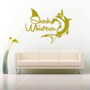 Shark Whisperer Hammerhead Vinyl Wall Decal Sticker