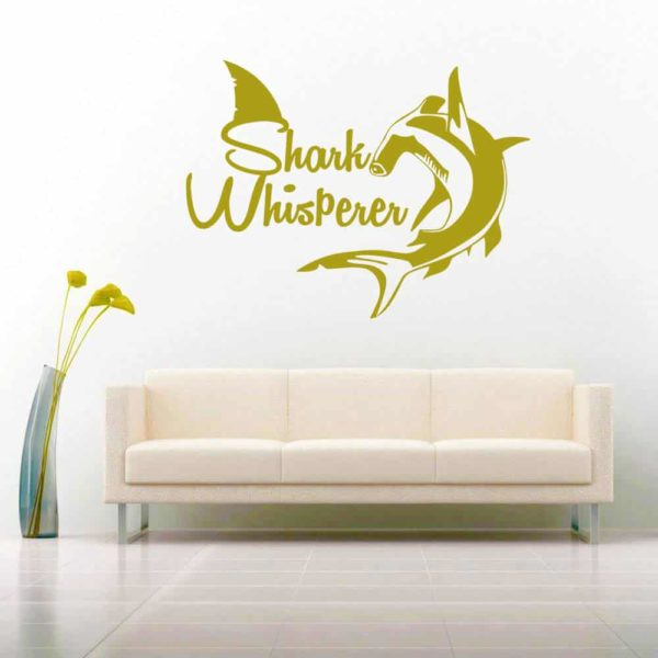 Shark Whisperer Hammerhead Vinyl Wall Decal Sticker