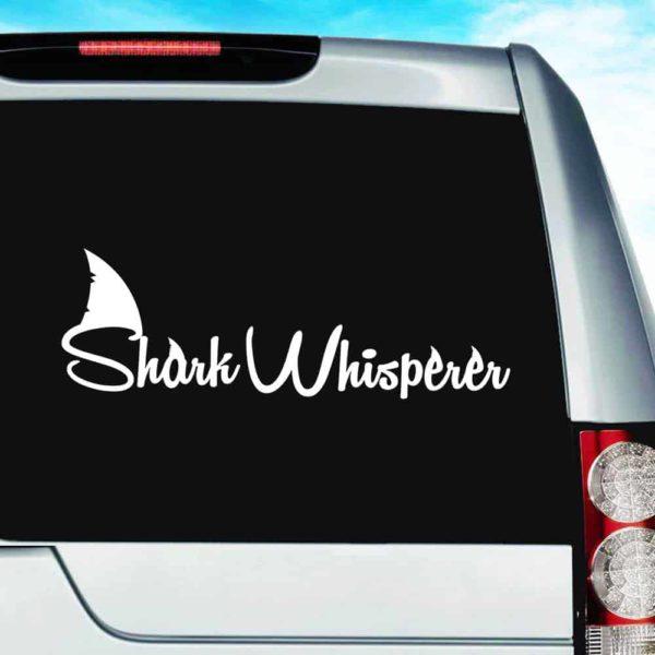 Shark Whisperer Vinyl Car Window Decal Sticker