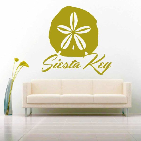 Siesta Key Florida Sand Dollar Vinyl Wall Decal Sticker