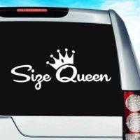Size Queen Vinyl Car Window Decal Sticker
