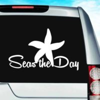Starfish Seas The Day Vinyl Car Window Decal Sticker