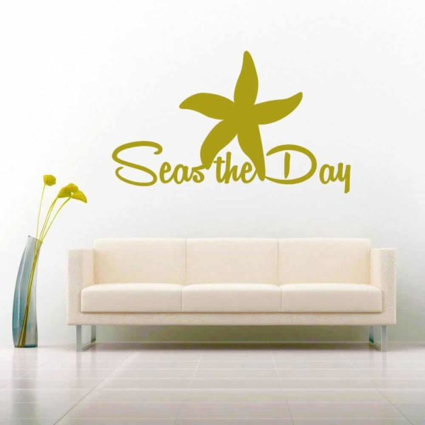 Starfish Seas The Day Vinyl Wall Decal Sticker
