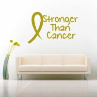 Stronger Than Cancer Vinyl Wall Decal Sticker