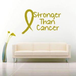Stronger Than Cancer Vinyl Wall Decal Sticker