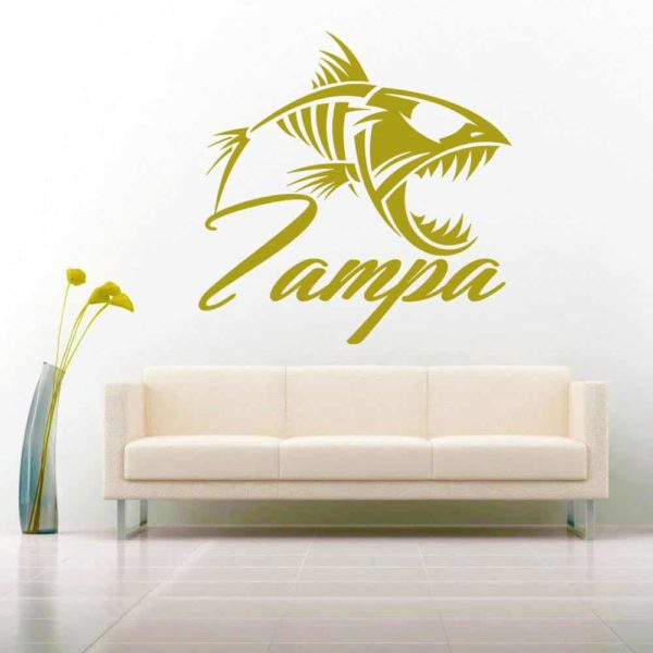Tampa Florida Fish Skeleton Vinyl Wall Decal Sticker
