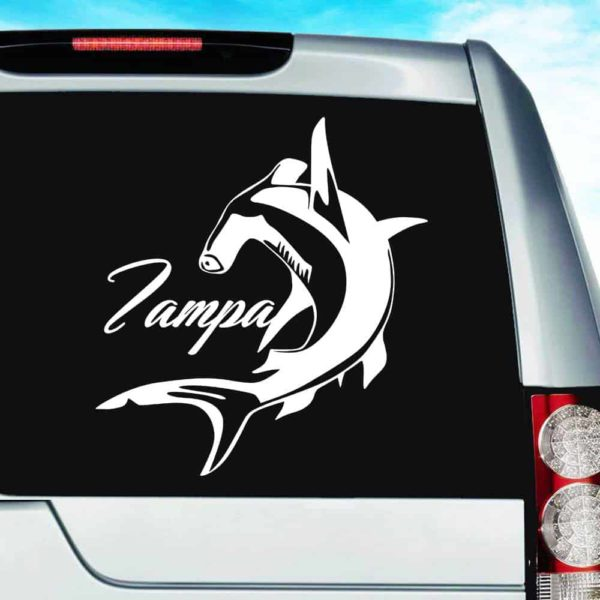 Tampa Florida Hammerhead Shark_1 Vinyl Car Window Decal Sticker