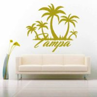 Tampa Florida Palm Tree Island Vinyl Wall Decal Sticker