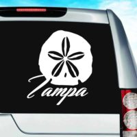 Tampa Florida Sand Dollar Vinyl Car Window Decal Sticker