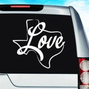 Texas Love Vinyl Car Window Decal Sticker