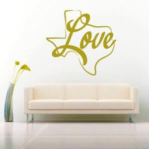 Texas Love Vinyl Wall Decal Sticker
