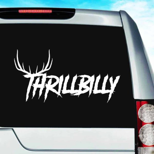 Thrillbilly Antlers_1 Vinyl Car Window Decal Sticker