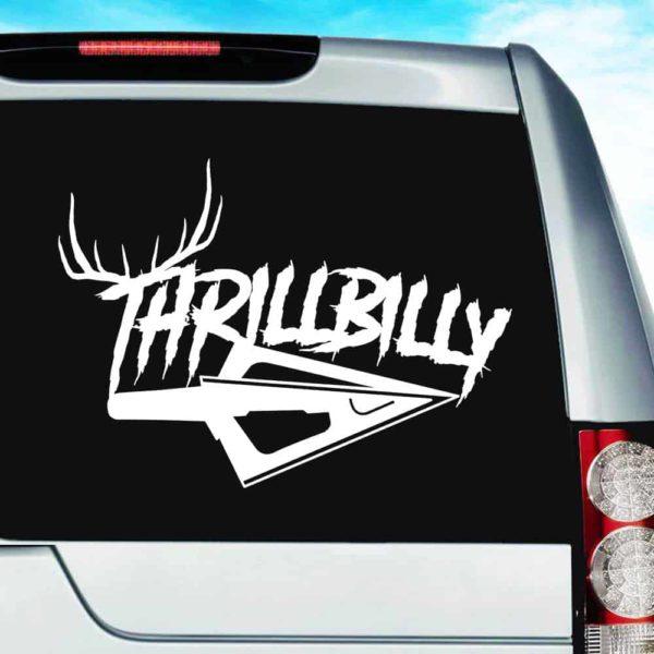 Thrillbilly Arrow Tip Antlers_1 Vinyl Car Window Decal Sticker
