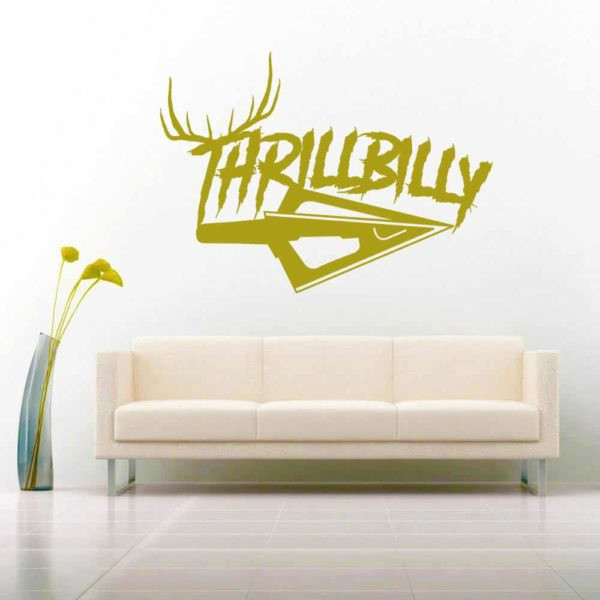 Thrillbilly Arrow Tip Antlers_1 Vinyl Wall Decal Sticker