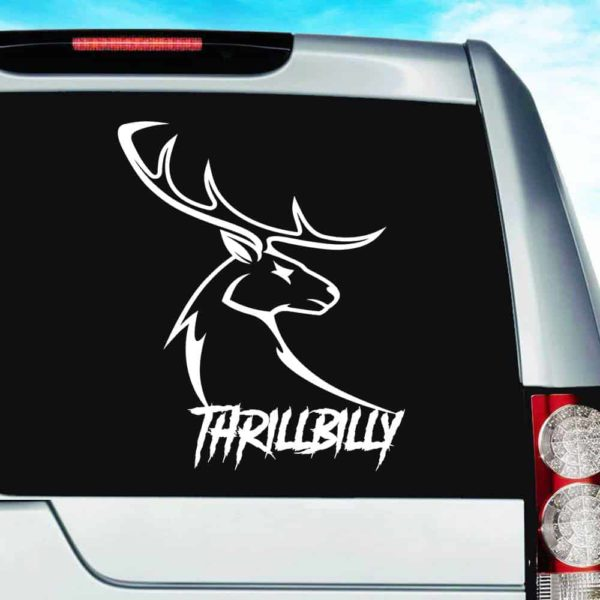 Thrillbilly Deer Head Buck Hunting_1 Vinyl Car Window Decal Sticker
