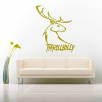 Thrillbilly Deer Head Buck Hunting_1 Vinyl Wall Decal Sticker