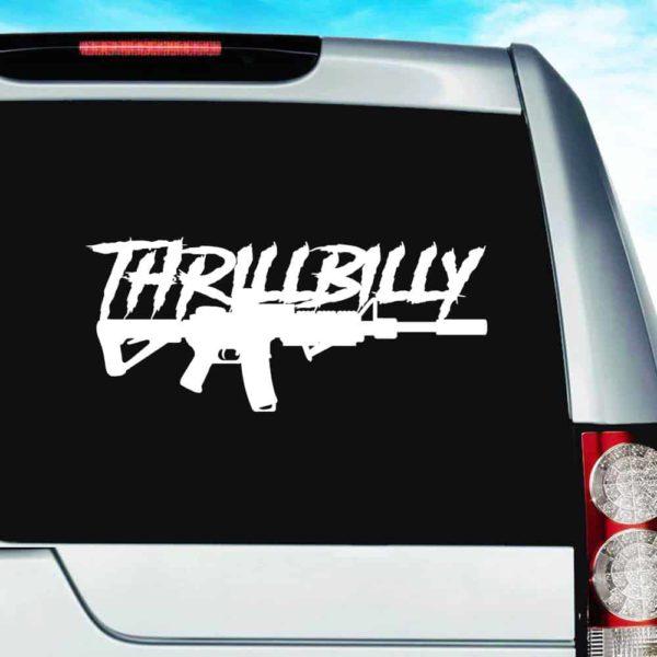 Thrillbilly Machine Gun_1 Vinyl Car Window Decal Sticker