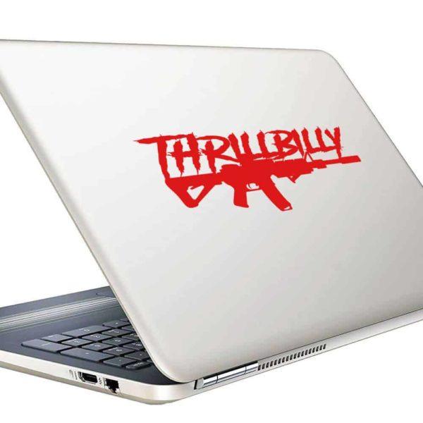 Thrillbilly Machine Gun_1 Vinyl Laptop Macbook Decal Sticker