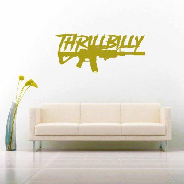 Thrillbilly Machine Gun_1 Vinyl Wall Decal Sticker