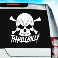 Thrillbilly Skull_1 Vinyl Car Window Decal Sticker