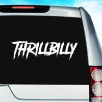 Thrillbilly_1 Vinyl Car Window Decal Sticker