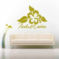 Turks And Caicos Hibiscus Flower_1 Vinyl Wall Decal Sticker