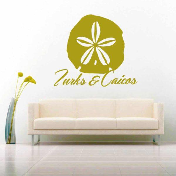 Turks And Caicos Sand Dollar Vinyl Wall Decal Sticker