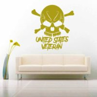 United States Veteran Skull_1 Vinyl Wall Decal Sticker