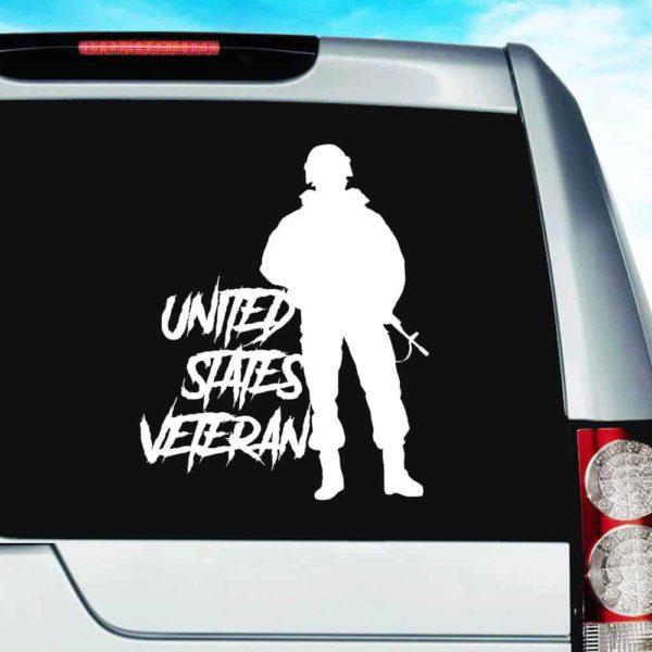 United States Veteran Soldier_1 Vinyl Car Window Decal Sticker
