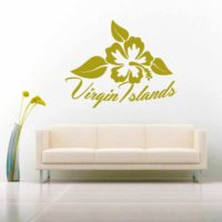 Virgin Islands Hibiscus Flower_1 Vinyl Wall Decal Sticker